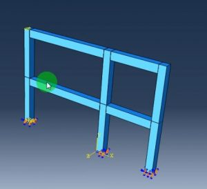 مدلسازی تیر و ستون درآباکوس